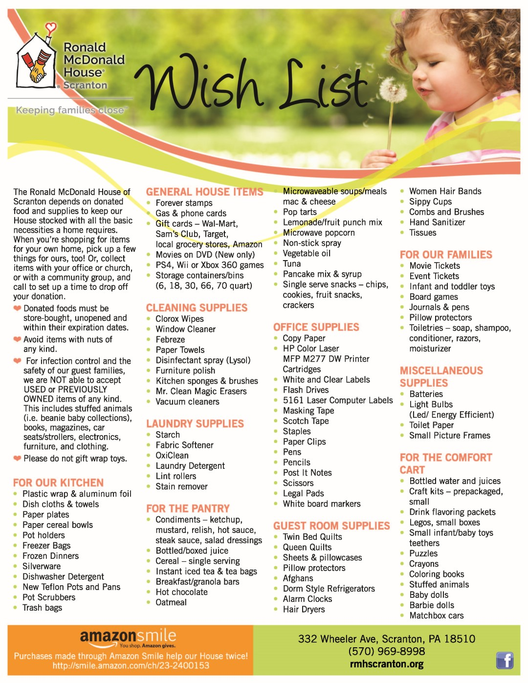 RMH-Wish-List-Flyer-September-2019